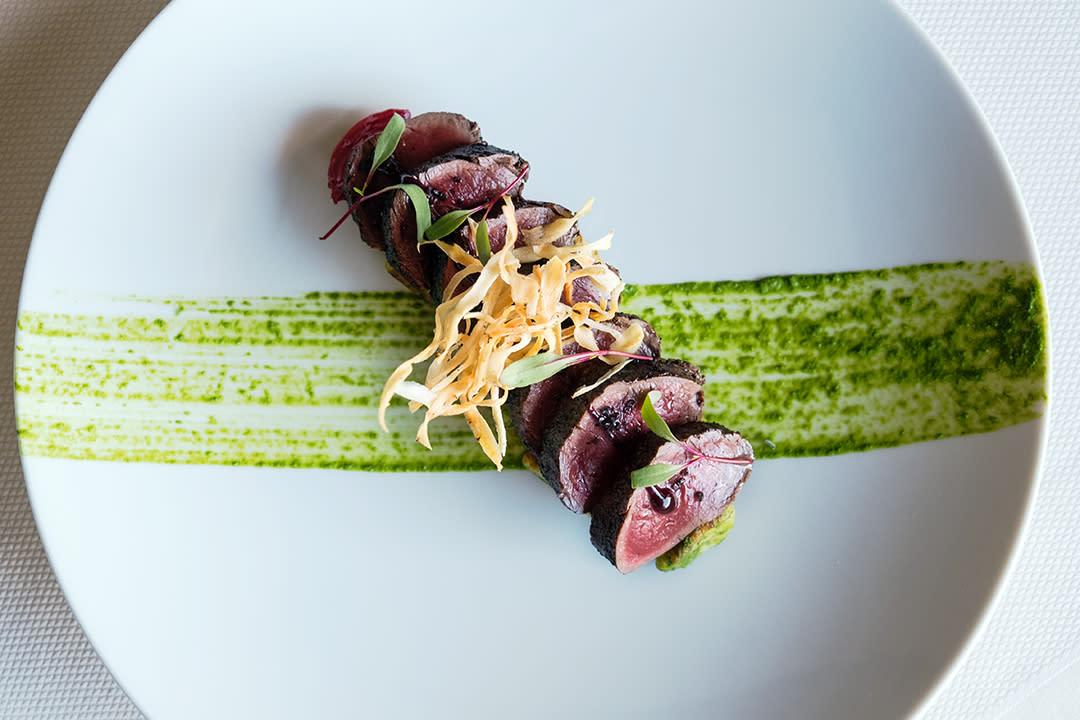 An elegant steak dish