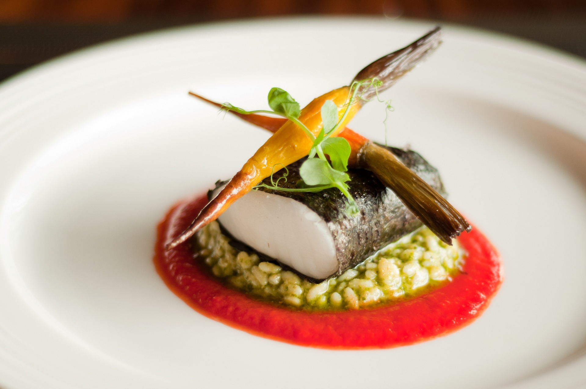 An exquisite dish, made by a private chef.