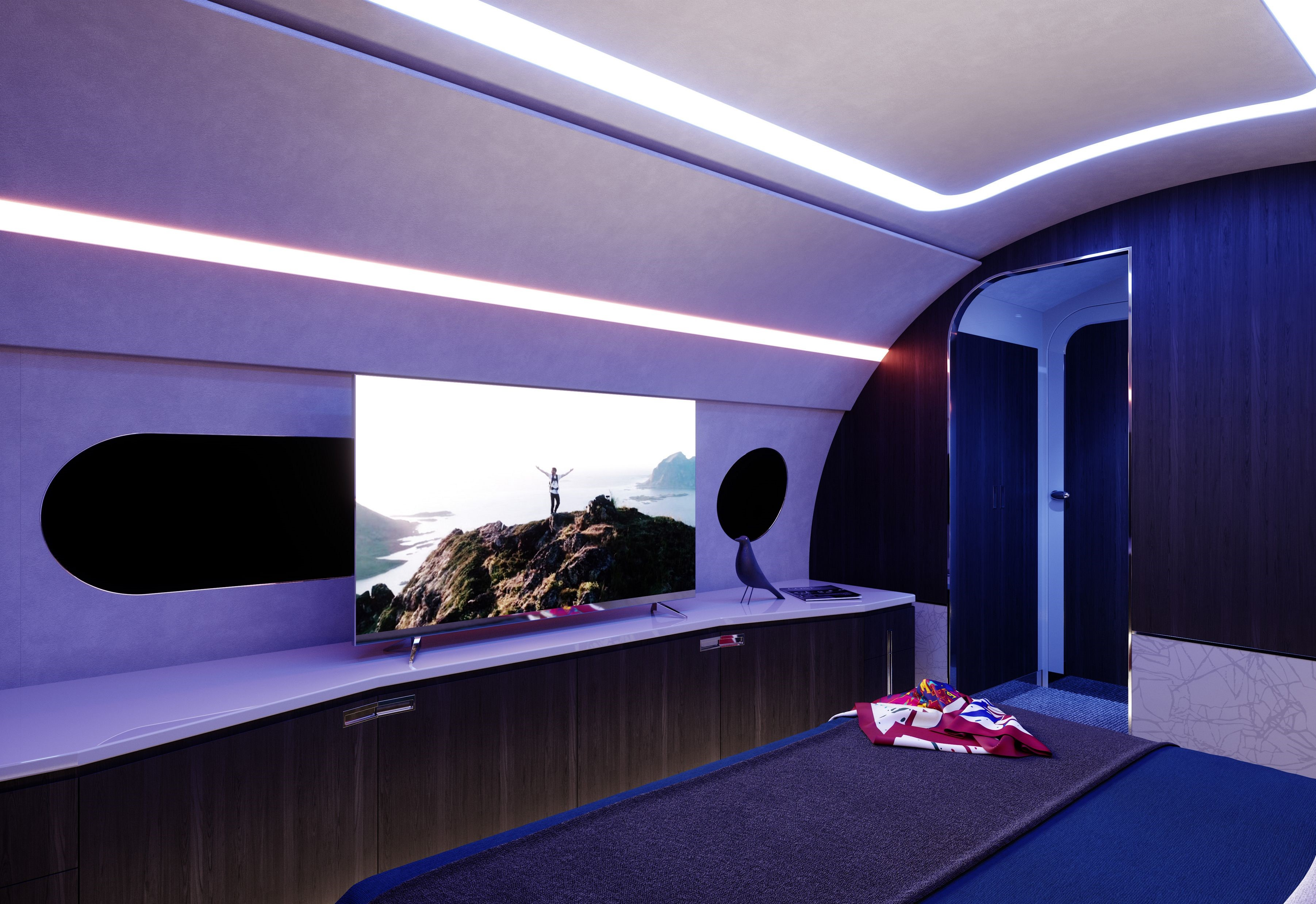 The latest luxury custom private jets feature private bathrooms and bedrooms for corporate travelers, allowing travelers to fly non-stop from Tokyo to Dubai or from Beijing to Melbourne