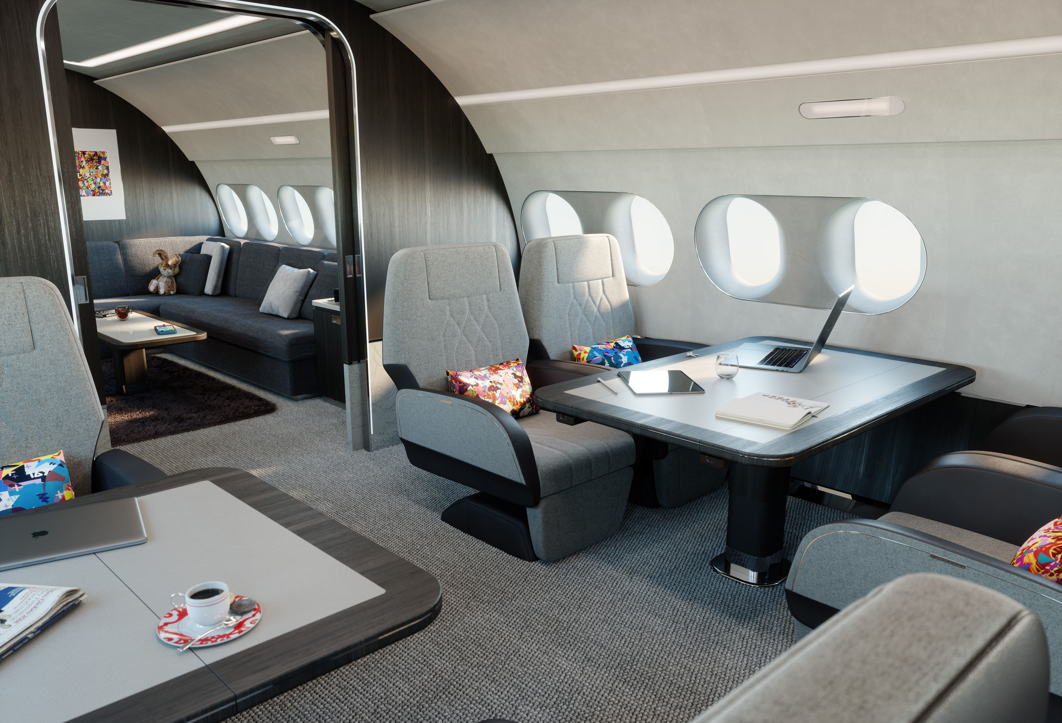 See inside one of the world's top luxury private jets for corporate charter travel, ACJ TwoTwenty takes corporate private jets to the next level of luxury