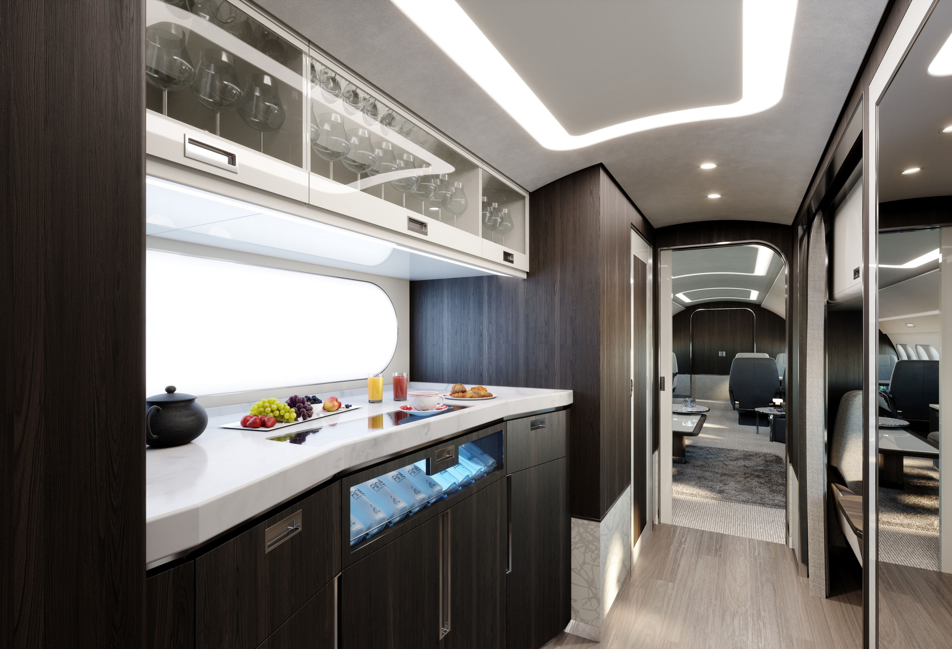 Airbus' flexible custom private jets offer over 100 design possibilities for travelers to create their very own luxury home in the sky