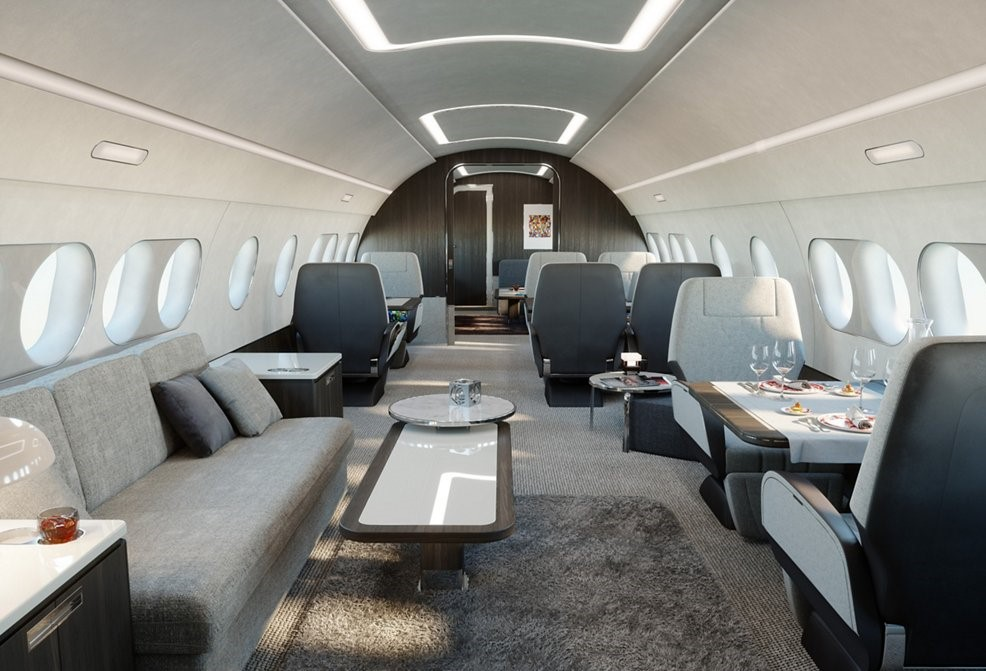 The 'extra large bizjet' is revolutionizing corporate jet charters by creating a luxury space for up to 18 travelers to work, sleep and unwind